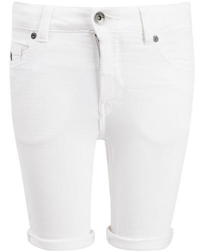Cremeweiße Jeans-Shorts